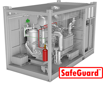 SafeGuard fire extinguisher system